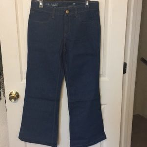 J.Crew high heel flare jeans-never worn!!